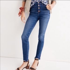 Madewell 10in High Rise Skinny Button Fly 29